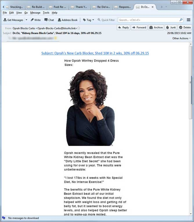 Oprah spam